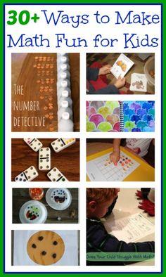 30 ways to make math fun for kids - hands-on math activities