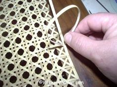FREE chair caning instructions and how-to directions on weaving a chair cane seat by hand, lace or strand to make your DIY chair caning project a success!