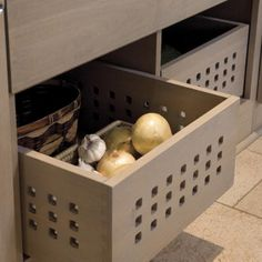 Produce Bins | Vented produce bins can be used to store produce that doesn't require refrigeration. | SouthernLiving.com