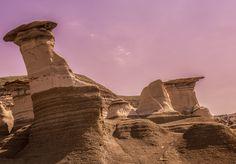 hoodoos - A wonderful rock formation near Drumheller Alberta. This is in the badlands. Drumheller Alberta, Rock Formations, Get Outside, Fine Art Photography, Monument Valley, Nature, Travel, Naturaleza, Viajes
