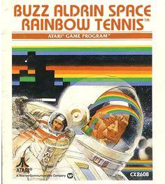 Buzz Aldrin Space Rainbow Tennis, boîte de la version Atari 2600