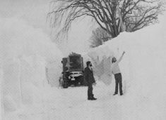 Buffalo, NY Blizzard of 77. I remember drifts that engulfed power poles.