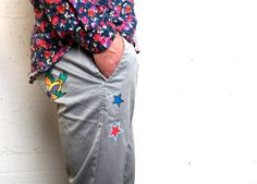 Hand Made Pants - Art & Star Paint with natural color - LIMITED EDITION Spring Summer 2014 #macchiaj