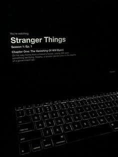 """""""ᴬᶰʸᵗʰᶤᶰᵍ ᵇᵘᵗ ᵒʳᵈᶤᶰᵃʳʸ""""💌 Watch Stranger Things, Stranger Things Season, Night Aesthetic, Quote Aesthetic, Dark Feeds, Will Byers, Words Quotes, Life Quotes, Instagram And Snapchat"""