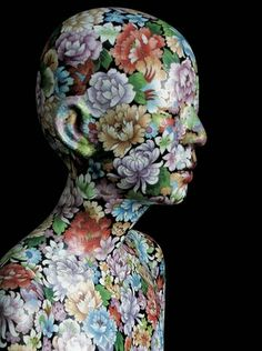 Ah Xian, decorated porcelain bust