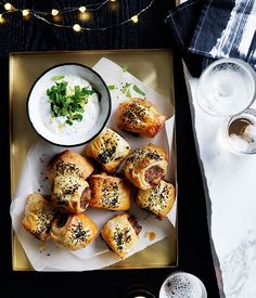Lamb and roast carrot sausage rolls recipe :: Gourmet Traveller - food - Hot Sausage, Sausage Rolls, Small Food Processor, Food Processor Recipes, Lamb Recipes, Cooking Recipes, Sausage Recipes, 185, Roasted Carrots