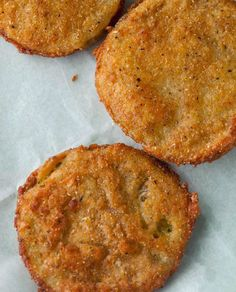 SPOON: 12 Bones Smokehouse: Fried Green Tomatoes---My Favorite recipe for fried green tomatoes. Just like the very first ones I ever ate in southern Alabama.