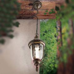 Klassisk pendellampa PAULA med mönstrat glas | Lamp24.se Pillar Lights, Path Lights, Outdoor Pendant Lighting, Traditional Lanterns, Lantern Designs, Glass Texture, Led, Hanging Lights, Montage