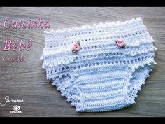 Calcinha de Crochê para bebê | Professora Simone - YouTube                                                                                                                                                                                 Mais