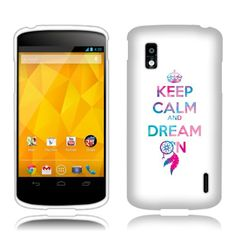 FINCIBO (TM) Protector Cover Case Snap On Hard Plastic For LG Google Nexus 4 E960 - Keep Calm Dream On Fincibo http://www.amazon.com/dp/B00CQ1R7AM/ref=cm_sw_r_pi_dp_WcELub0S1XBW2