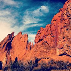 Garden of the Gods: Whether in sunshine, rain, or snow, it's always beautiful. Great for rock climbing too!