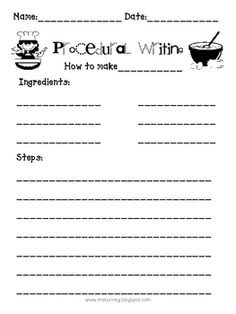 procedural writing prompts 3rd grade