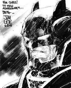 The Dark Knight - Batman by Jim Lee * - Art Vault Comic Book Artists, Comic Book Characters, Comic Artist, Comic Character, Comic Books Art, Dc Comics, Heros Comics, Jim Lee Batman, Im Batman