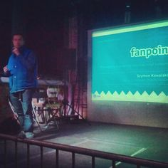We visit Social Media events :) Szymon explain how to promote brands with Fanpoint.  February, 2013