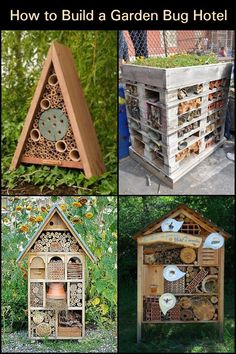 Attract beneficial insects into your garden by building this bug hotel! Insect Hotel, Bug Hotel, Garden Bugs, Veggie Patch, Bird Boxes, Beneficial Insects, Bugs And Insects, Fencing, Bats
