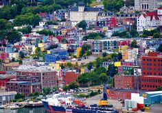 This historic stretch of downtown St. John's is called Jellybean Row: ship captains would assign their homes a distinct candy color to make them easier to spot from the sea.