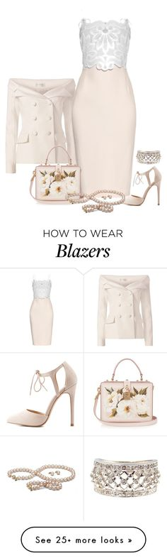 """""""pink lady"""" by kim-coffey-harlow on Polyvore featuring Faith Connexion, Antonio Berardi, Charlotte Russe and Dolce&Gabbana"""
