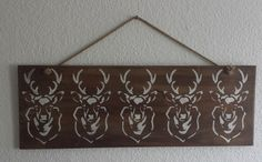 Altholz Schild Hirsch Shabby Landhaus Upcycling