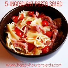Happy Hour Projects: Five Ingredient Pasta Salad