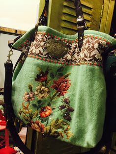 The Inez Weekender Yoga Mat Large Travel Bag Carry on Sacs Tote Bags, Travel Bags Carry On, Handmade Purses, Handmade Handbags, Embroidery Bags, Carpet Bag, Tapestry Bag, Moda Boho, Weekender