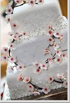 Nice Personalized Wedding Cake Toppers Thick Cheap Wedding Cakes Rectangular Square Wedding Cakes 5 Tier Wedding Cake Youthful Best Wedding Cake Recipe BrightWedding Cake Cutter Cherry Blossom Wedding Cake \u003c3   Weddings \u0026 Events   Pinterest ..