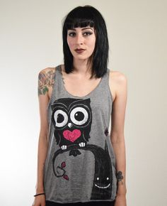NIGHT OWL LOOSE TANK TOP – Akumu Ink Clothing