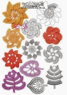 Letras e Artes da Lalá: Crochê irlandês - irish crochet (pinterest)