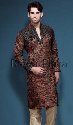 Marvelous Party Wear Kurta Pyjama. Item code : SKB2109 Indian Man, Indian Ethnic, Indian Fashion, Men's Fashion, Disney Renaissance, Muslim Men, Buy Sarees Online, Sherwani, Online Clothing Stores