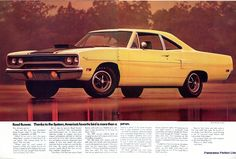 1970 Plymouth Road Runner Advertising Hot Rod Magazine October 1969