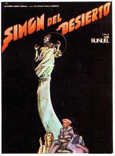 """""""Simón del desierto"""" (1965) País: México. Director: Luis Buñuel. Reparto: Claudio Brook, Silvia Pinal, Hortensia Santovana, Jesús Fernández"""