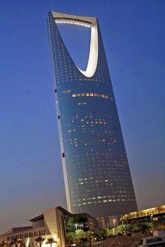 City of skyscrapers -Kingdom Tower in Riyadh - Saudi Arabia