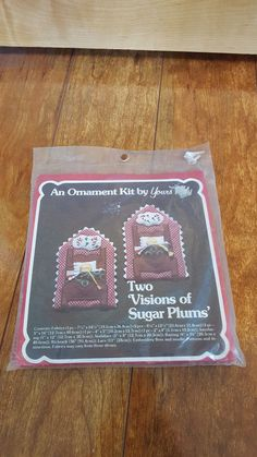 """Vintage  Christmas Ornament Kit Yours Truly """"Two Visions of Sugar Plums"""" 4x6"""" #YoursTruly"""
