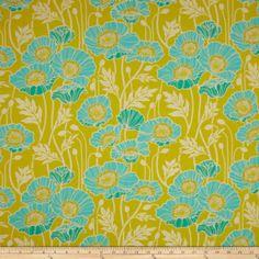 Joel Dewberry Notting Hill Cotton Voile Pristine Poppy Citron Fabric:Amazon:Arts, Crafts & Sewing
