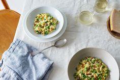 risotto w/ pancetta, peas