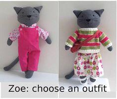 Stuffed Cat Rag Doll Cat Dress Up Cloth Doll Stuffed