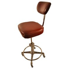 Industrial Drafting Stool Swivel Chair   From a unique collection of antique and modern stools at https://www.1stdibs.com/furniture/seating/stools/