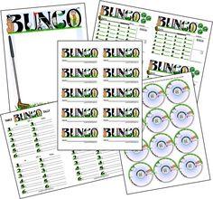 Glorious Golf Bunco Printable Set.
