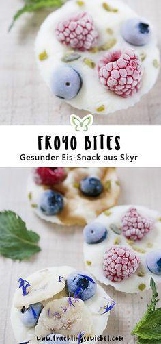 Lust auf einen erfrischenden und gesunden Snack? Dann probier dieses Rezept für Frozen Yogurt Bites aus.   Alles, was du brauchst, ist ein wenig Joghurt, eine Form und Obst deiner Wahl.   Unser #Pearle-Tipp: Mit Beeren, Mangos, Marillen und Zitrusfrüchten machst du auch deinen Augen eine Freude! Die Obstsorten sind reich an wichtigen Vitaminen und Nährstoffen.