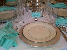 Placesetting For Breakfast at Tiffany's Party ~ Becca's Sweet 16