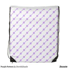 Purple Pattern Drawstring Bag  Available on many more products! Type in the name of this design in the search bar on my Zazzle products page!   #abstract #art #pattern #design #color #accessory #accent #zazzle #buy #sale #fashion #tote #bag #mirror #compact #make-up #women #living #modern #chic #contemporary #style #life #lifestyle #minimal #simple #plain #minimalism #square #line #white #purple #gym #work #out
