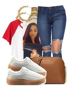 """""""8/13❣"""" by lookatimani ❤ liked on Polyvore featuring Rolex, Monki, MICHAEL Michael Kors and Puma"""