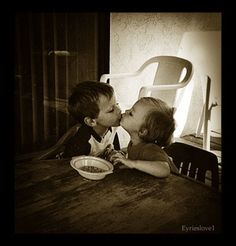 How adorable is that first kiss?