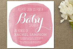 Simply Baby Baby Shower Invitations - pretty