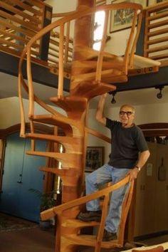 Sam Maloof spiral staircase