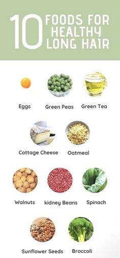 Biotin Hair Growth, Vitamins For Hair Growth, Healthy Hair Growth, Hair Regrowth, Hair Growth Food, Healthy Skin, Healthy Food, Healthy Eating, Foods For Hair Loss
