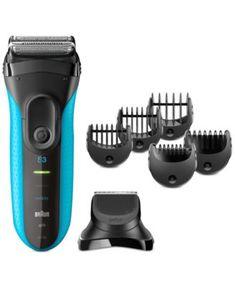 3010BT Men's Series 3 ProSkin Shaver   macys.com Men's Beard Trimmer, Braun Shaver, Best Electric Shaver, Electric Razors, Foil Shaver, Beard Trimming, Grooming Kit, Brush Cleaner, Hair
