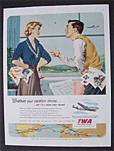Vintage TWA Advertisement - Trans World Airlines