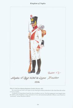 Kingdom of Naples: Plate 12. 2nd Line Infantry Regiment, Fusilier Private, 1812.