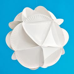 Make with colored plates, get directions here # http://familyfun.go.com/crafts/paper-plate-polyhedron-933447/