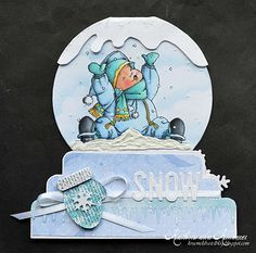 Mo Manning image on this snow globe card.  Instructions on blog
